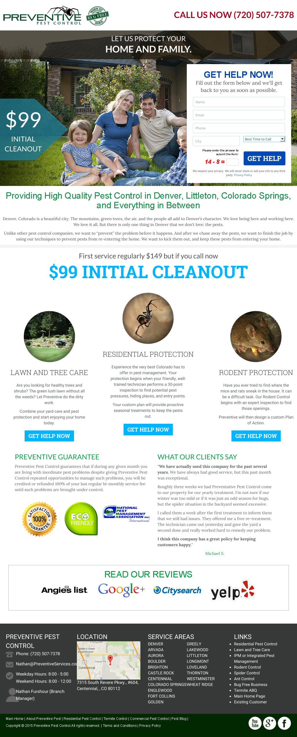Preventive Pest Control Denver Home Page