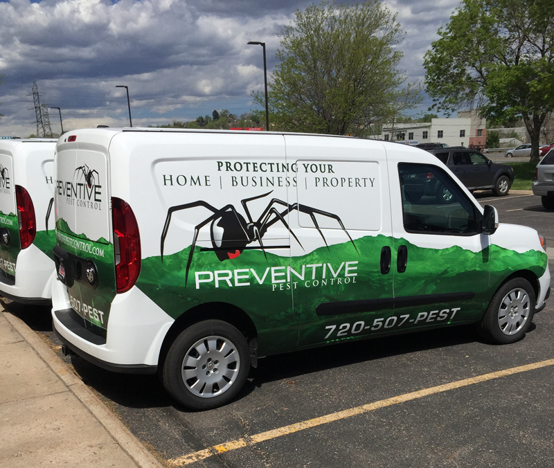New Custom Van Wraps for Preventive Pest Control Denver!